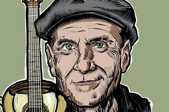 Portrait of singer-songwriter James Taylor