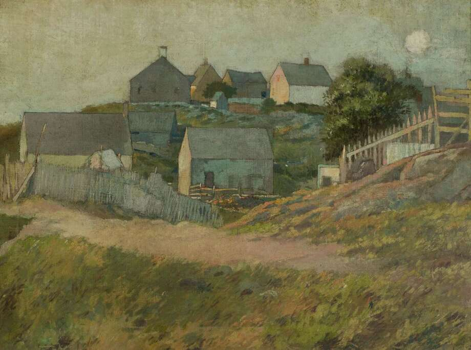 "George Wharton Edwards, a Greenwich artist, will be given renewed appreciation by his adopted hometown at an upcoming exhibit. ""Farmhouses on Monhegan Island"" depicts a Maine landscape. Photo: / Submitted — Bruce Museum"