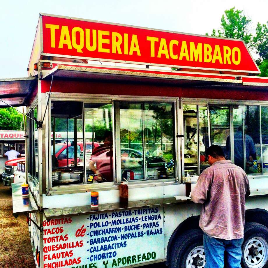 A taco trailer behind the farmers market on Airline. Photo: David Leftwich