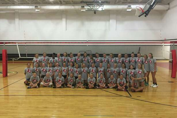 Participants at the 2017 Falcon Volleyball Camp