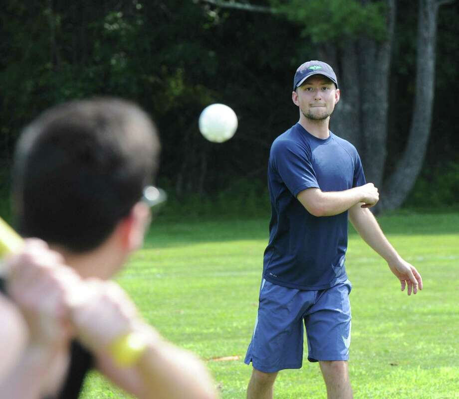 The annual Greenwich Wiffleball tournament at the Eastern Greenwich Civic Center in returned last weekend and was a big success, raising $1,000 for the Boys and Girls Club of Greenwich. Photo: Bob Luckey Jr. / Hearst Connecticut Media / Greenwich Time