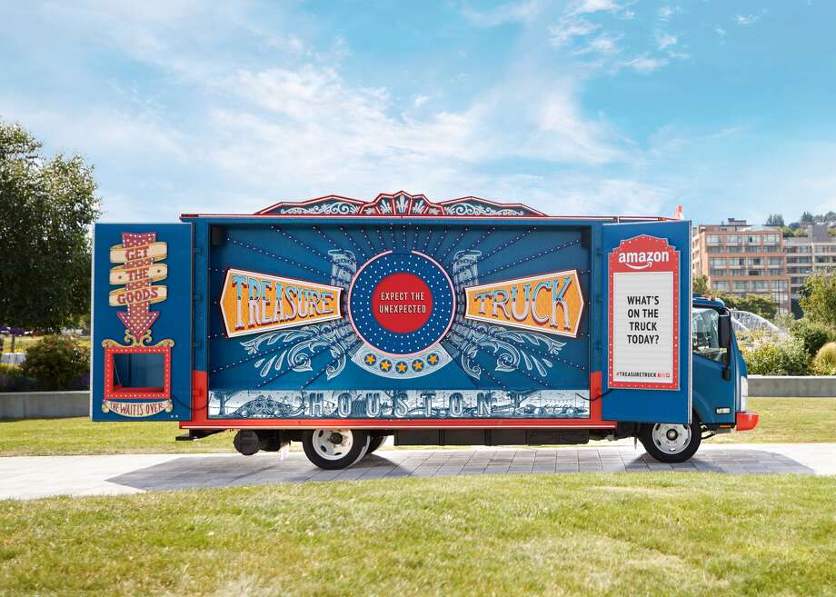 Amazon on Saturday plans to roll out its Treasure Truck in downtown Houston for the first time.