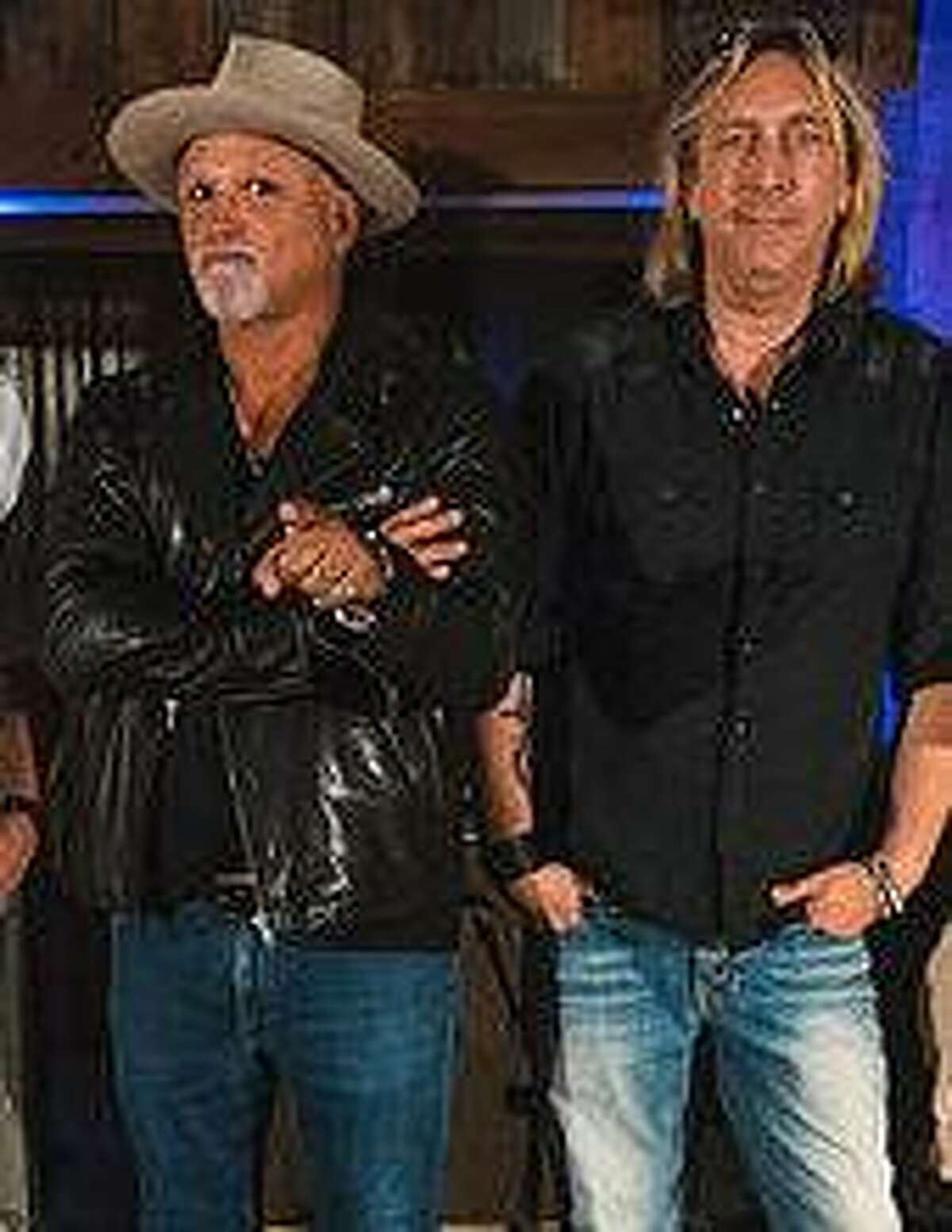 Derek St Holmes singer for Ted Nugget and Grammy Winning Guitarist Paul Nelson (Johnny Winter/The Paul Nelson Band) were seen at Peaches restaurant in Norwalk last week.