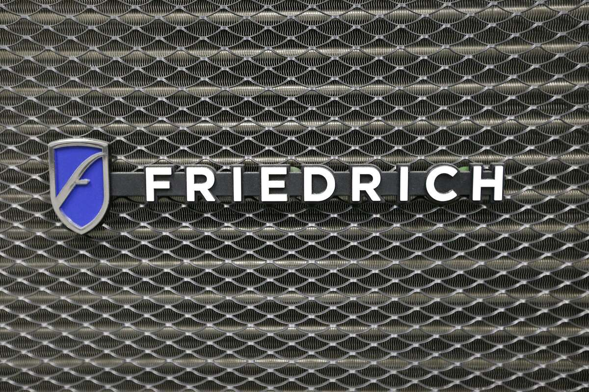 Detail of the Friedrich Air Conditioning Company logo at the Friedrich Air Conditioning Company Design and Development Center.