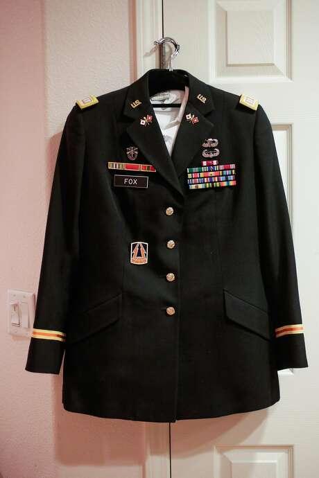 Sage Fox's military uniform. Photo: Gabrielle Lurie, The Chronicle