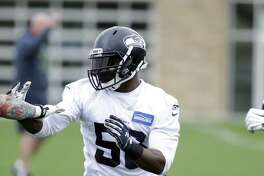 In this May 26, 2016, file photo, Seattle Seahawks' Kevin Pierre-Louis works on a drill at NFL practice in Renton, Wash. Kansas City and Seattle swapped linebackers on Friday, with D.J. Alexander joining the Seahawks and Pierre-Louis being sent to the Chiefs.