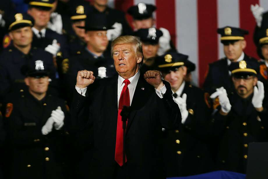 Cheeto Trump Endorses Police Brutality, Cops Laugh and Cheer
