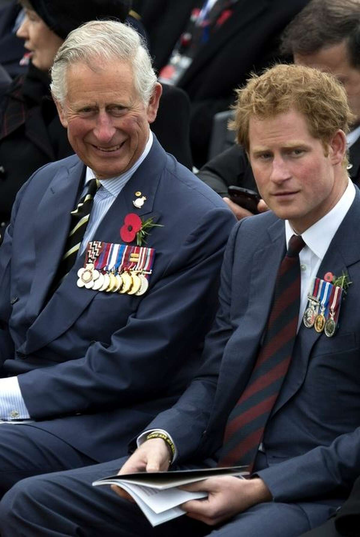 Prince Charles with his son, Prince Harry.