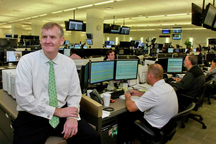 FILE - Calpine CEO Thad Hill on the Calpine trading floor on June 2, 2015. Calpine assured employees that there would be no layoffs despite its sale to a private equity firm. Photo: Gary Fountain, Freelance / Copyright 2015 by Gary Fountain