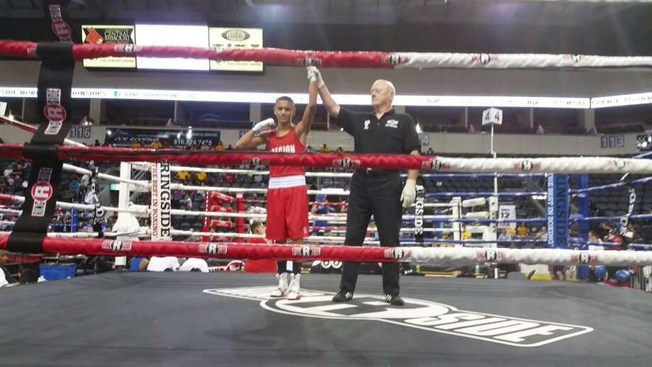 Angel Garcia won his third bout on Friday and will compete for a championship on Saturday during the Ringside World Championships in Independence, Missouri. Photo: Courtesy Of Baby Joey's Boxing Club
