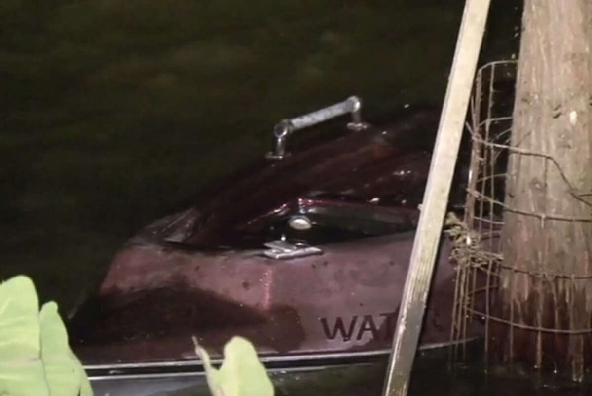 A man is missing after he and two other men went fishing in Lake Houston and their boat capsized causing them to fall into the water.