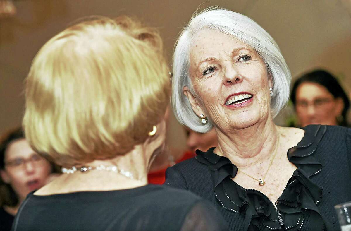 Judy Tabar, president and CEO of Planned Parenthood of Southern New England who is set to retire in April, is honored at a party, Wednesday, March 8, 2017, at the New Haven Lawn Club in New Haven.