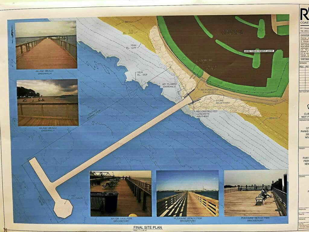 Designs for the new Fort Nathan Hale Park pier presented Thursday, March 9,  during