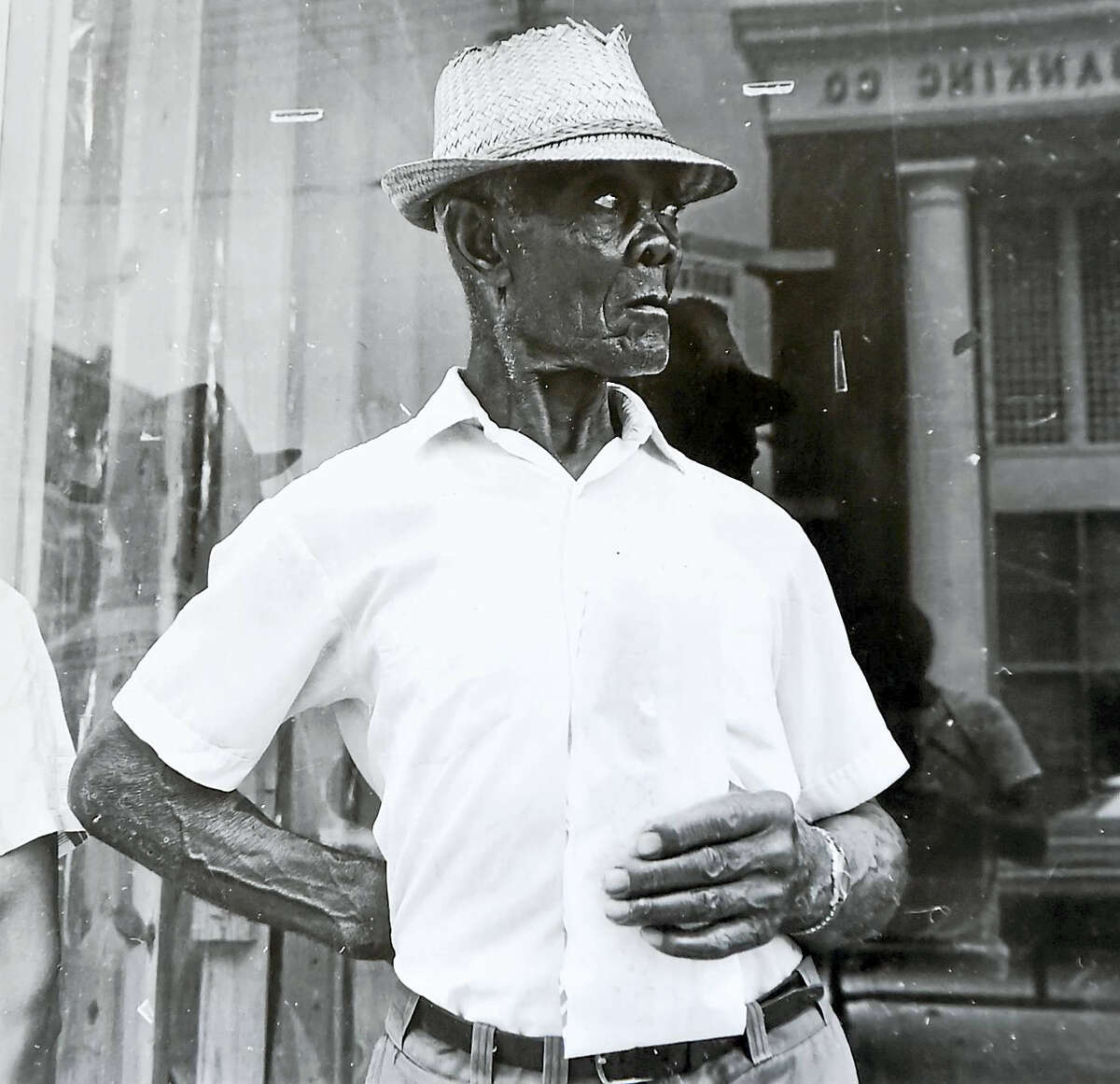 """A silver gelatin print from Raymond Smith, entitled """"Demopolis, Ala."""" and dedicated to Walker Evans."""