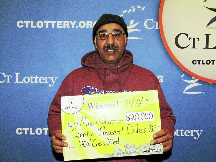 Abdul Ghaffar recently won $20,000 in the Connecticut Lottery. Photo: Courtesy CT Lottery