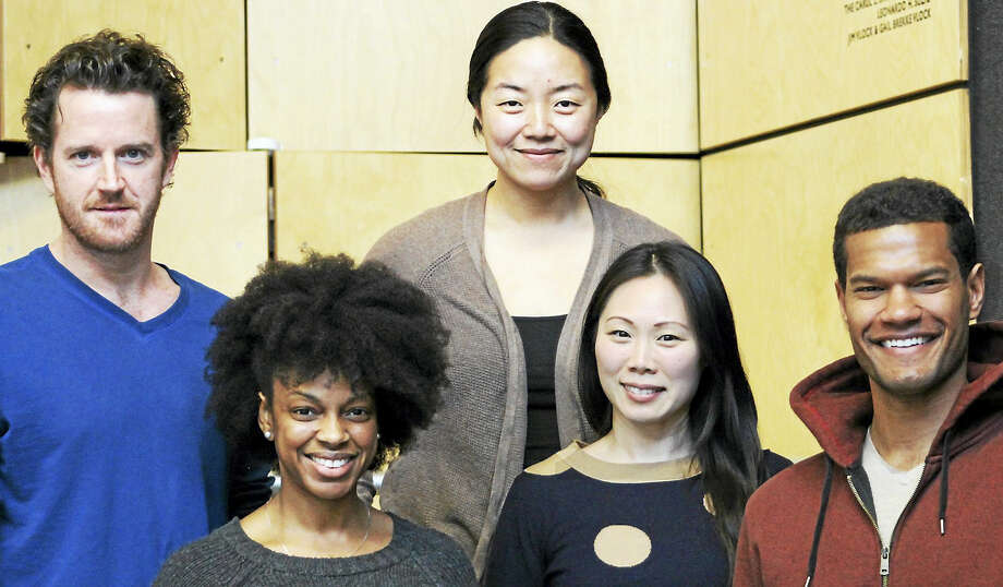 "From left, Peter O'Connor, Tiffany Nichole Greene, Desdemona Chiang, Ka-Ling Cheung and Sullivan Jones star in ""Smart People."" Photo: Photo Courtesy Of Long Wharf Theatre"