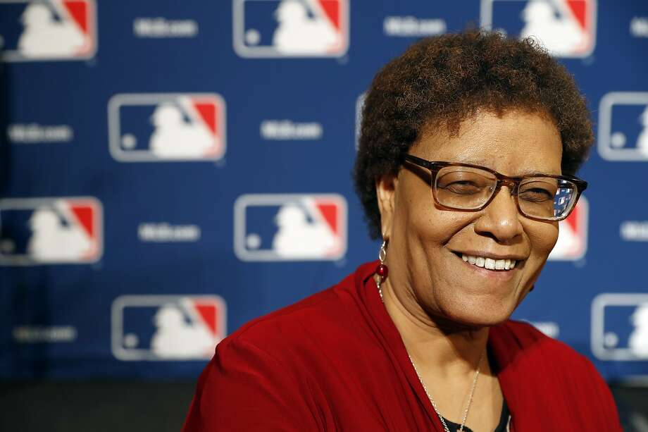 Claire Smith poses during Major League Baseball's winter meetings, Tuesday, Dec. 6, 2016 in Oxon Hill, Md.  Photo: Alex Brandon, AP