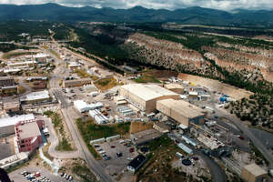 This undated aerial view shows the Los Alamos National laboratory in Los Alamos, N.M. The birthplace of the atomic bomb, the laboratory was founded in secret in 1943.