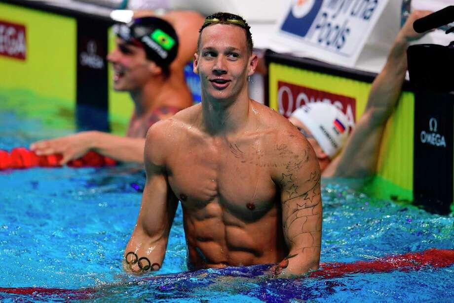 Caeleb Dressel has historical swimming hat trick
