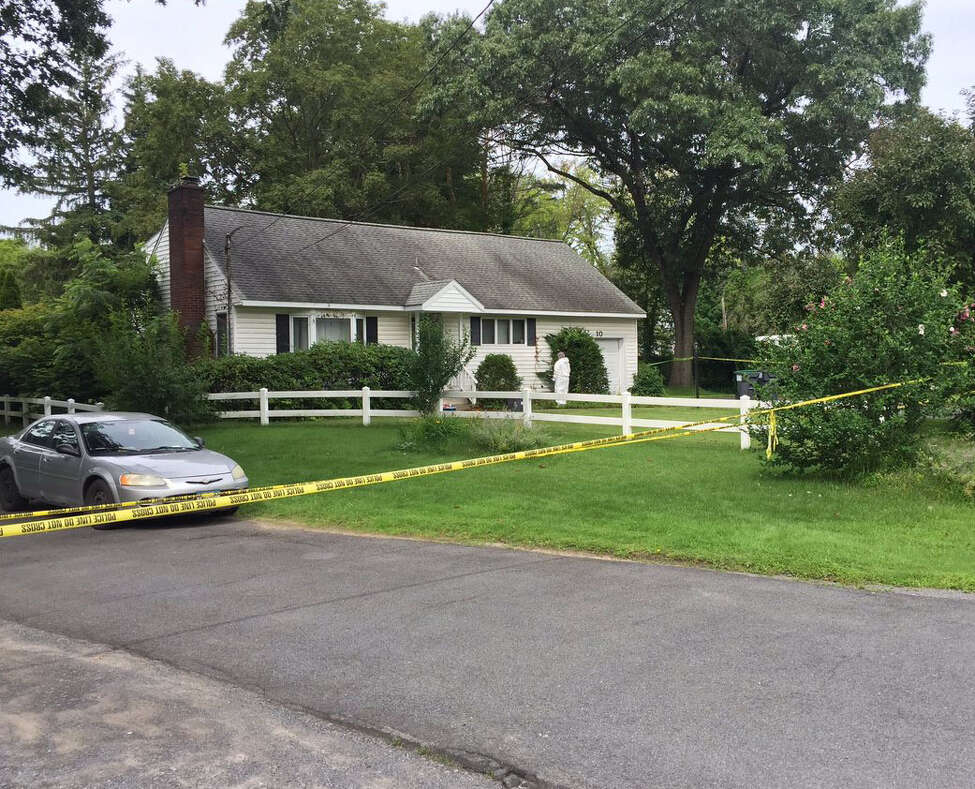 The house at 10 Pashley Road in Glenville, N.Y., where an officer was shot and the homeowner, Brian Skinner, a teacher with the Shenendehowa school district was killed on July 28, 2017. (Robert Downen/Times Union)