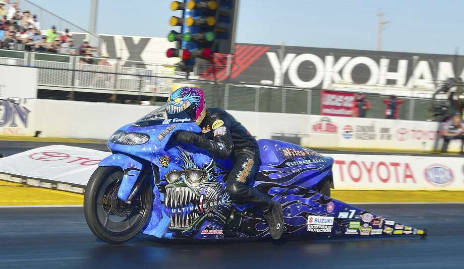 LE Tonglet raced to his first career NHRA Mickey Thompson Tire Pro Bike Battle win during the NHRA Mello Yello Drag Racing Series event on Saturday July 29, 2016 at Sonoma Raceway. Tonglet received a $7,500 payday in the all-star bonus race featuring the top eight Pro Stock Motorcycles in the category. Photo: Courtesy Nate Jacobson / Courtesy Nate Jacobson / Courtesy Nate Jacobson