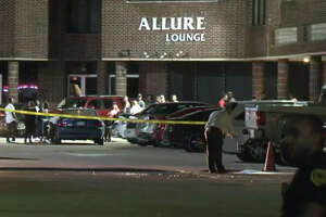 One man was wounded outside a Houston nightclub.
