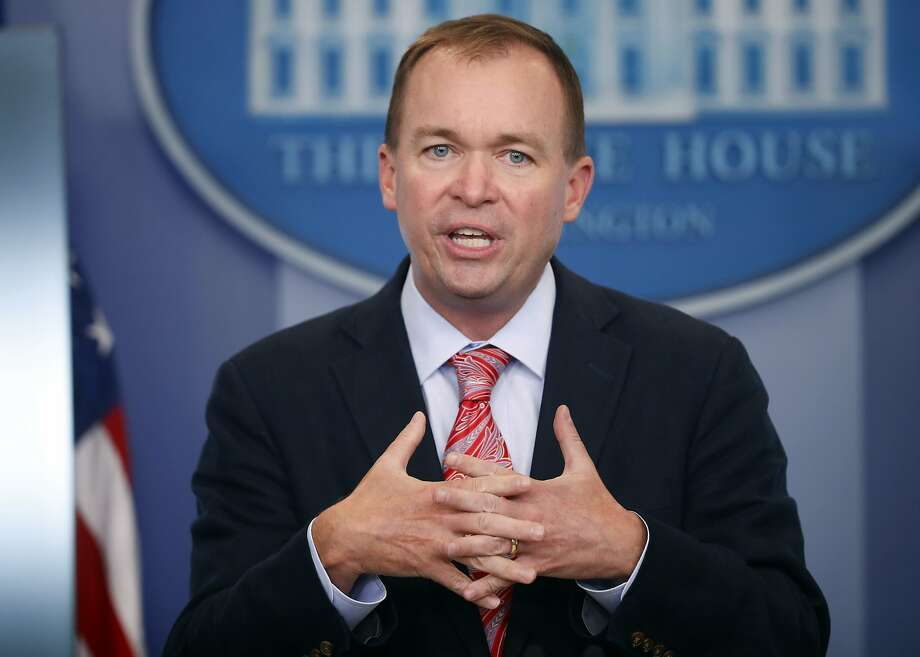 Budget Director Mick Mulvaney says the Senate should skip its August recess if necessary. Photo: Pablo Martinez Monsivais, Associated Press