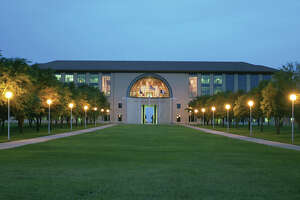 In this file photo, the entrance to TAMIU's Sue and Radcliffe Killam Hall is shown.