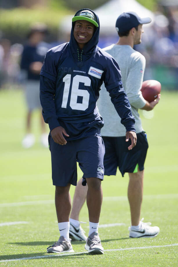 """1. """"Short stay"""" on Physically Unable to Perform list for Tyler LockettLockett, recovering from a broken leg suffered in December, did not practice Sunday. Coach Pete Carroll says the receiver didn't clear his physical and has been placed on the PUP list.""""That should be a very short stay there,"""" Carroll said,""""just because it's something we want to make sure we take care of."""" Photo: GRANT HINDSLEY, SEATTLEPI.COM / SEATTLEPI.COM"""