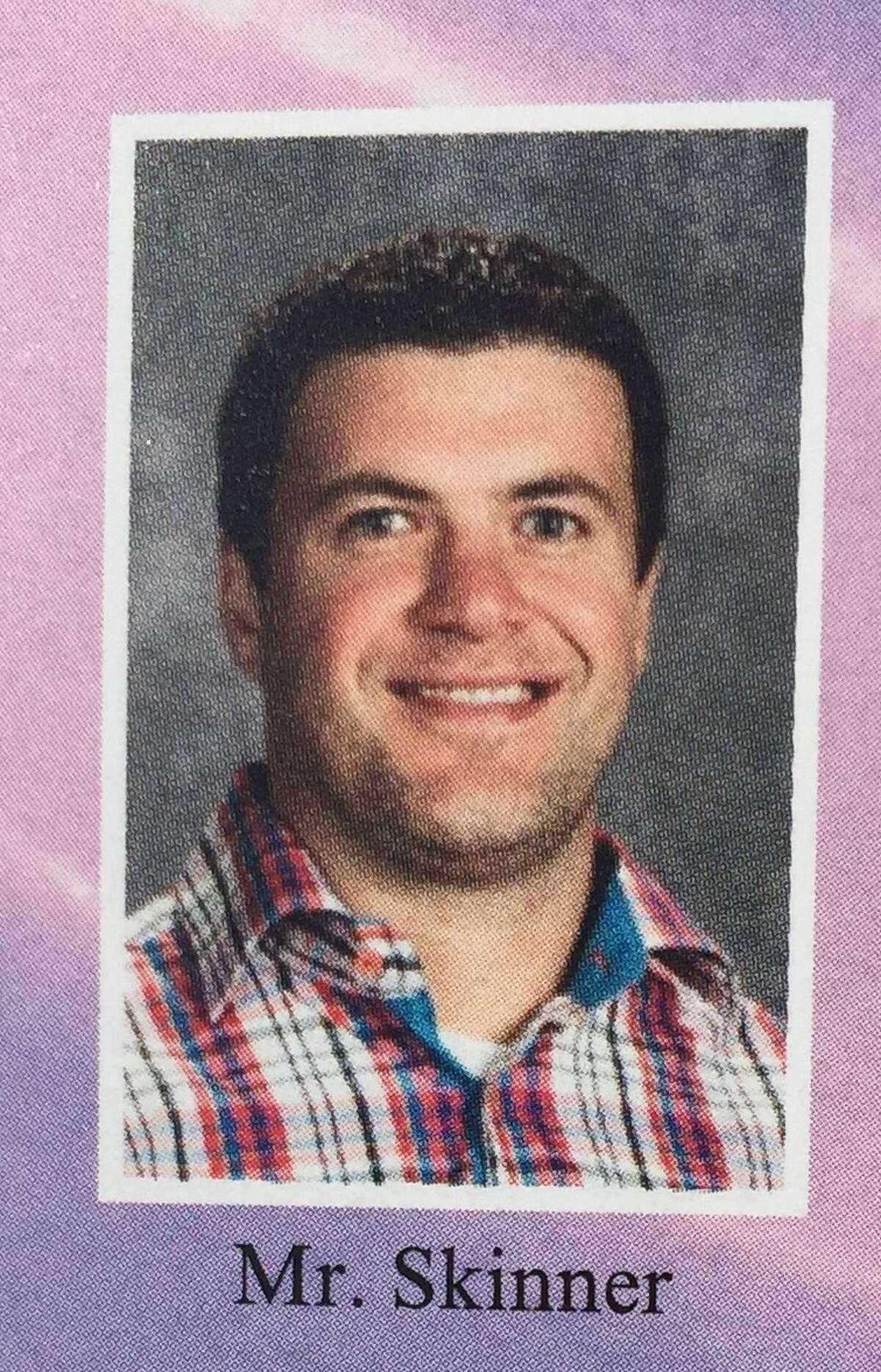 Orenda Elementary School fifth-grade teacher Brian Skinner, as seen in a Shenendehowa Central District 2017 yearbook photo. Skinner was killed in a police shooting at his Glenville home July 28, 2017.