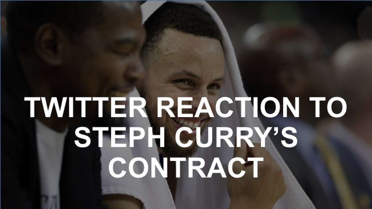 Click through the gallery to see how Twitter users responded to news of Warriors player Steph Curry's newest contract.
