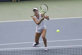 Professional tenses player and Atherton-native CiCi Bellis practices at Stanford University in Stanford, Calif on July 26, 2017.