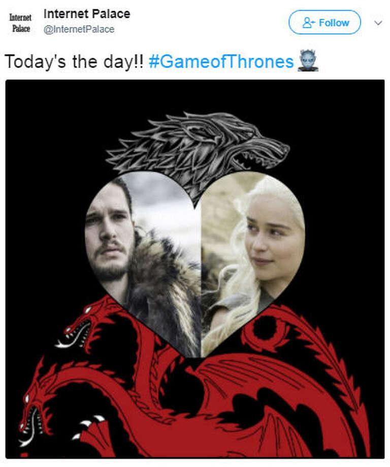 """Today's the day!! #GameofThrones""Source: Twitter Photo: Twitter"
