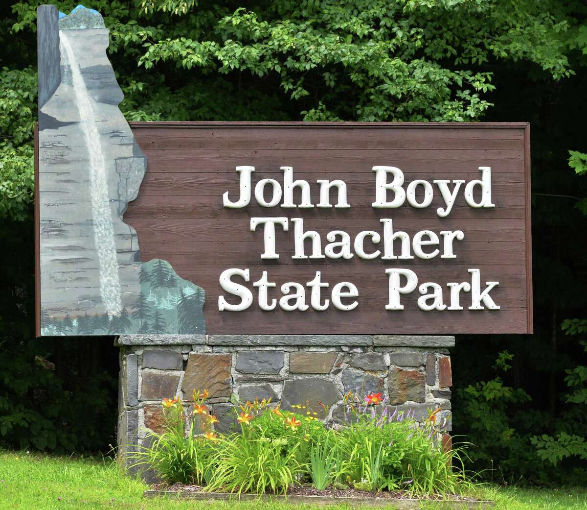 Entrance to John Boyd Thacher State Park in Voorheesville, NY, Wednesday July 31, 2013. (John Carl D'Annibale / Times Union)