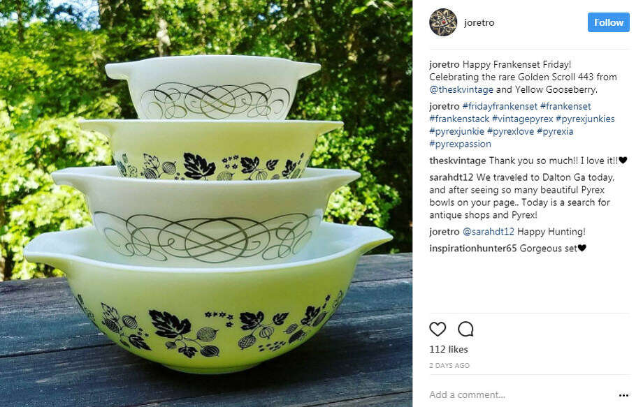 Have you checked your Kitchen cabinets lately? Vintage Pyrex dishes are going for big bucks! Via Joretro. Photo: Pyrex