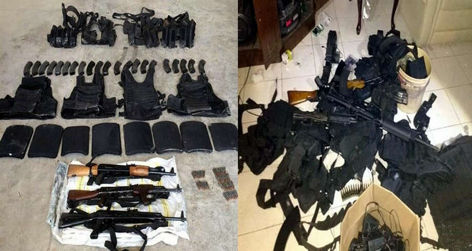 The Mexican army seized multiple items from a Gulf Cartel house along the Texas-Mexico border in July 2017, according to El Blog del Narco. Photo: Courtesy/El Blog Del Narco