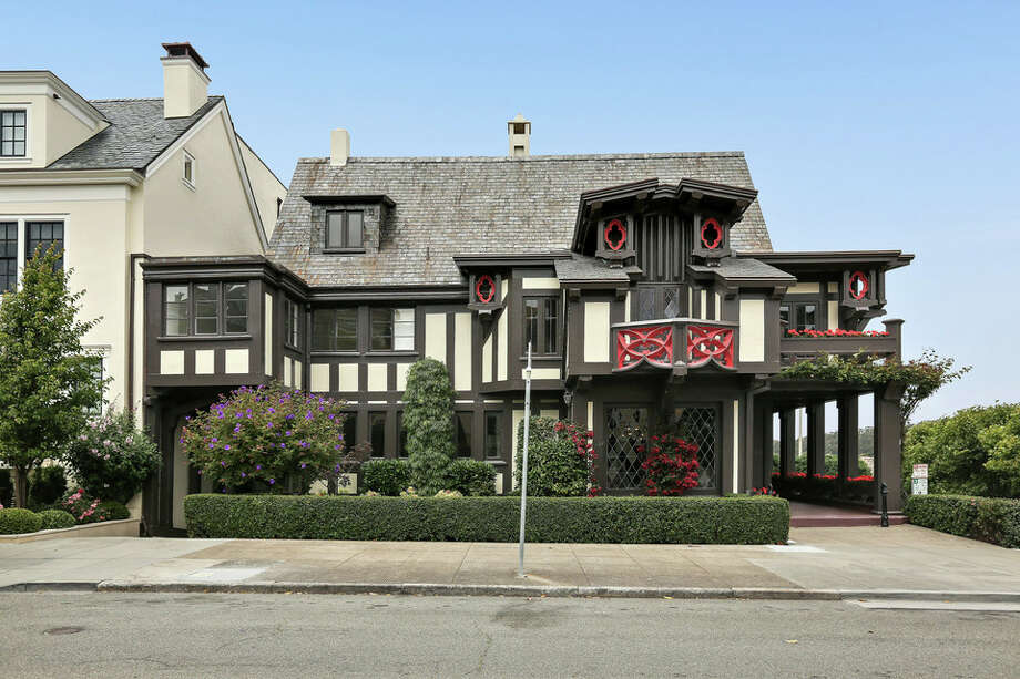 A seven-bedroom mansion in Presidio Heights is on the market for $16 million. The Tudor-style home was originally built in 1909 and designed by California pioneering architect Bernard Maybeck. Photo: Open Homes Photography