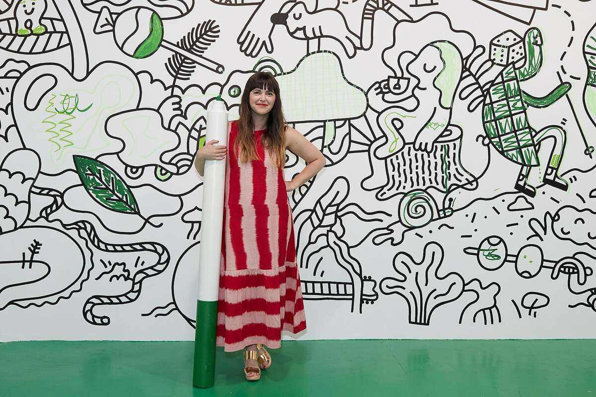 Jordan Ferney at the opening of The Color Factory at 575 Sutter St. in San Francisco July 28, 2017/