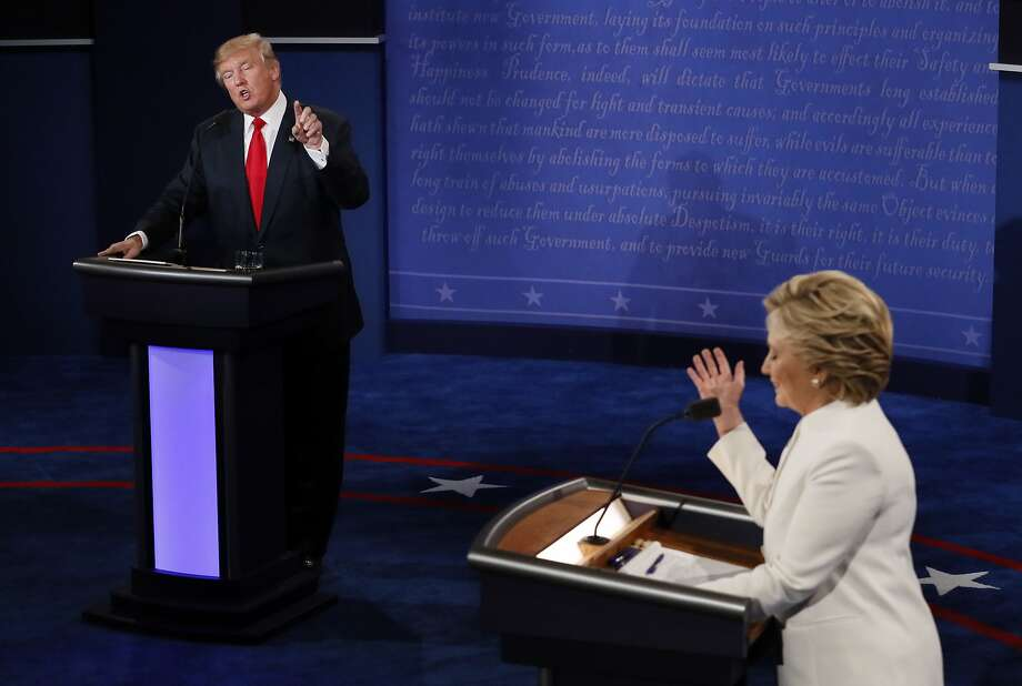 President Trump can't seem to get past the 2016 presidential election. He continuously returns to making comments about his opponent, Democratic presidential nominee Hillary Clinton. Photo: Mark Ralston, Associated Press