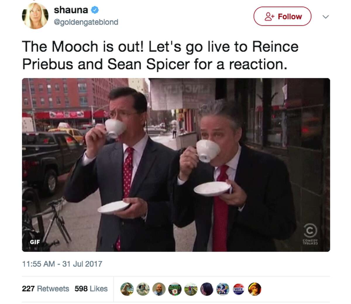 Memes and reactions poured in as soon as news broke that Anthony Scaramucci was out at White House Communications Director on July 31.