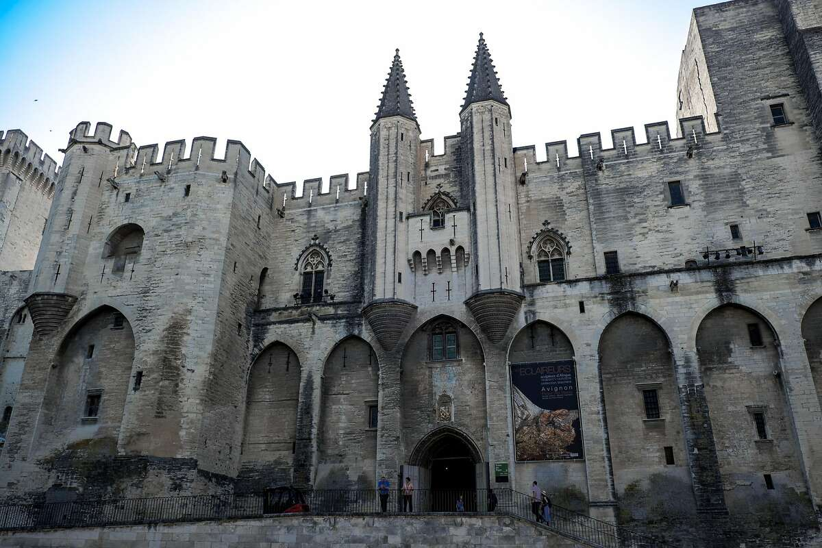 The massive medieval Palais des Papes (Popes' Palace) dominates the center of Avignon, one of the stops along CroisiEurope�s Rh�ne River cruise.