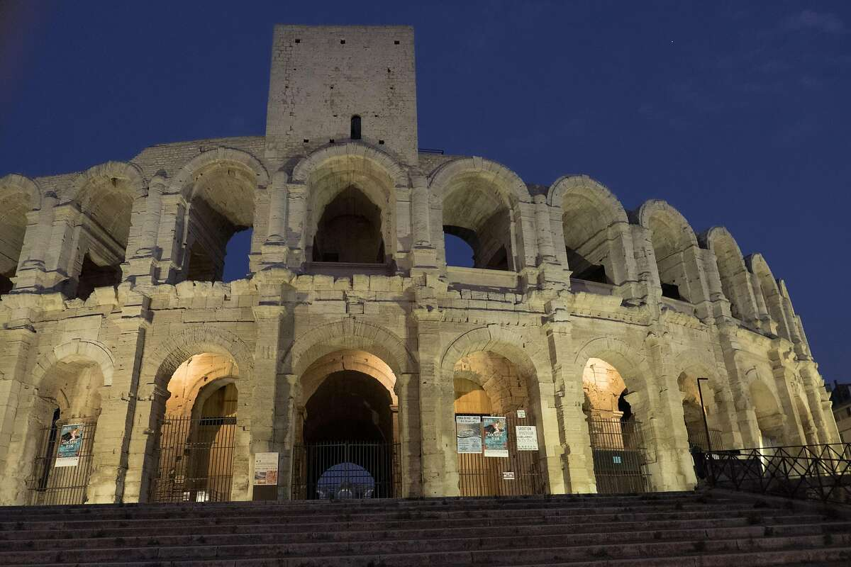 Still largely intact, the Roman Amphitheatre in the center of Arles is one of France�s most impressive ancient ruins.