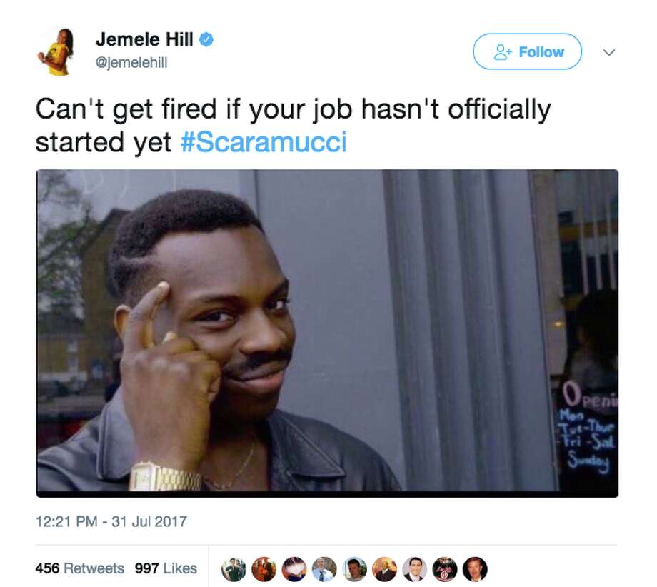 Memes and reactions poured in as soon as news broke that Anthony Scaramucci was out at White House Communications Director on July 31. Photo: Screenshot Via Twitter
