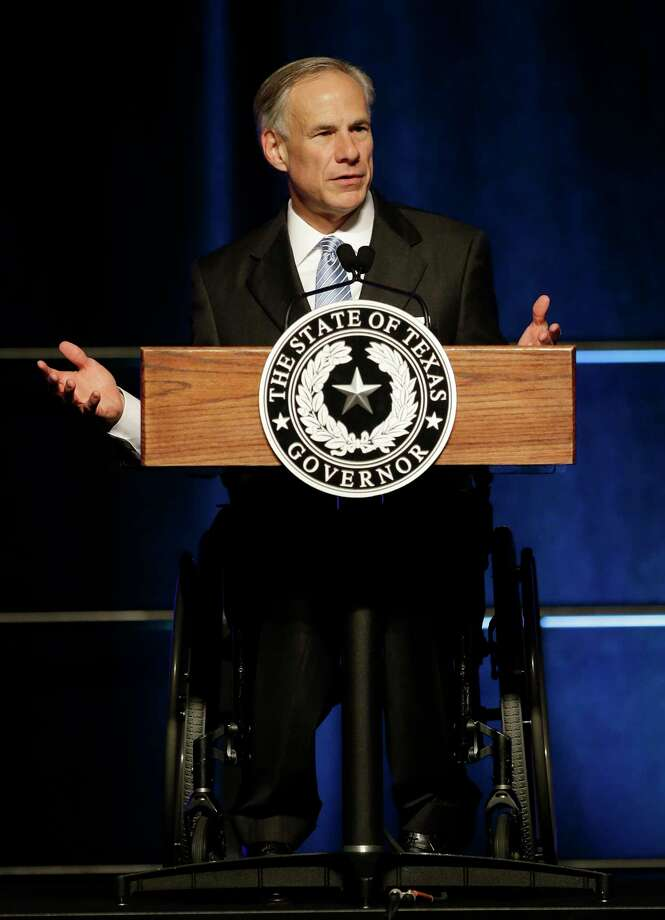 Texas Governor Greg Abbott gives a State of State speech at the Greater Houston Partnership event Hilton Americas,  1600 Lamar St., Tuesday, April 18, 2017, in Houston. ( Melissa Phillip / Houston Chronicle ) Photo: Melissa Phillip, Staff / © 2017 Houston Chronicle