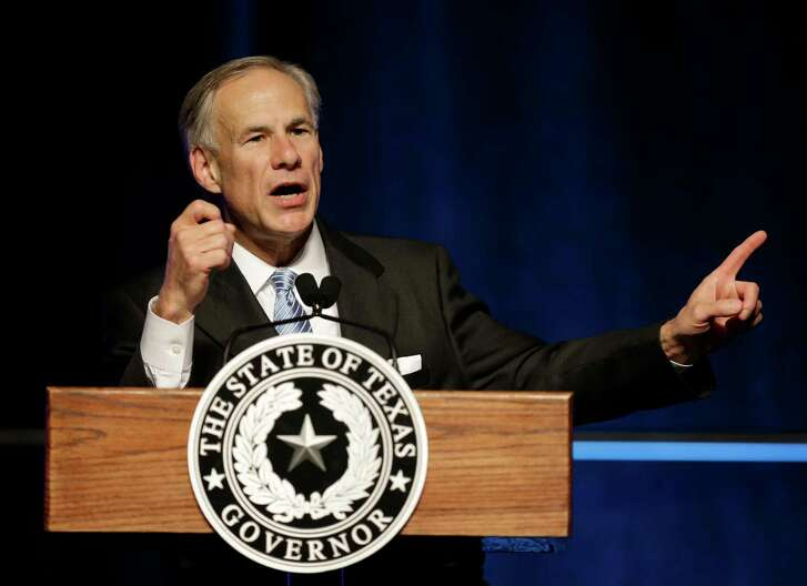 Texas Governor Greg Abbott gives a State of State speech at the Greater Houston Partnership event Hilton Americas,  1600 Lamar St., Tuesday, April 18, 2017, in Houston. ( Melissa Phillip / Houston Chronicle )