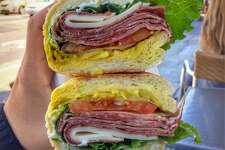 Molinari's special Italian combo sandwich from Molinari's deli.