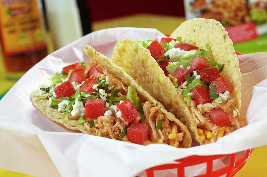 Shredded chicken tacos are at the menu at Fuzzy's Taco Shop, which recently closed its UTSA-area location Photo: Fuzzy's Taco Shop