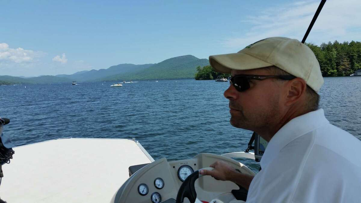 Dave Wick, the executive director of the Lake George Park Commission,and dozens of other officials mounted a land, air and waterborne effort all around Lake George on Monday, July 31, 2017, to make sure the now-infamous Log Bay Day would not be revived by diehard fans a year after a reveler killed a young girl in a boating collision.