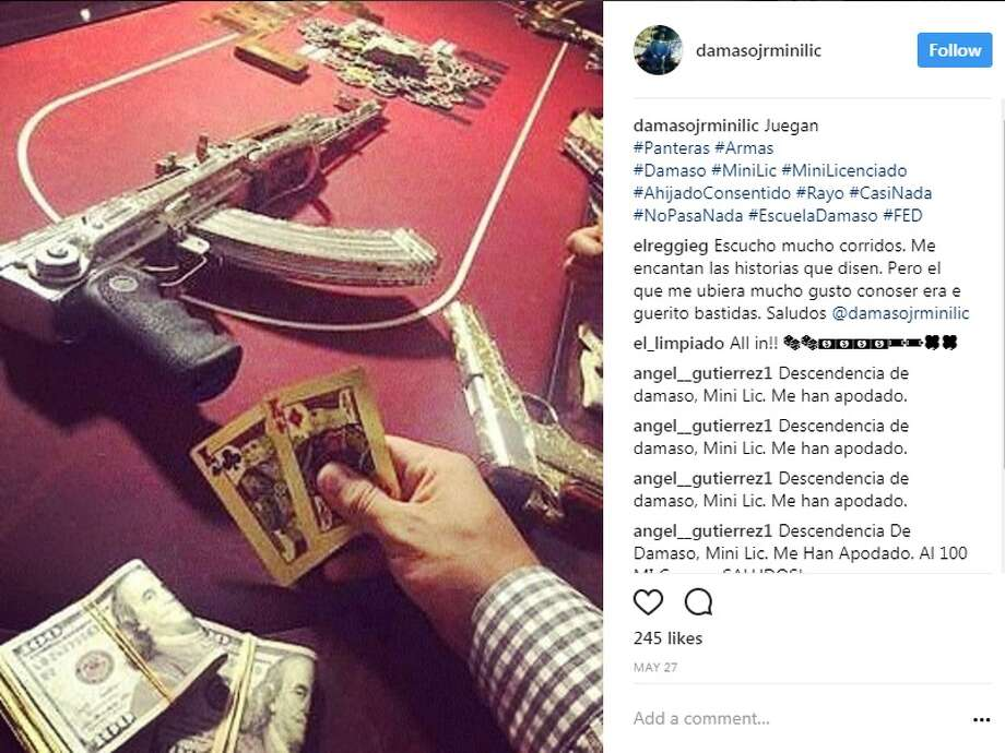 son of a mexican cartel boss flaunts life of wealth guns drugs on