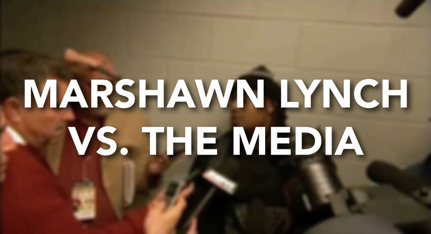 This isn't the first time Marshawn Lynch has messed with the media. See all of the highlights of the running back's run-ins with the media by clicking through the gallery.